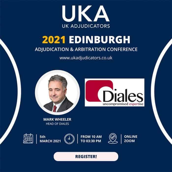 Mark Wheeler, Head of Diales, speaks at the UK Adjudicators Conference