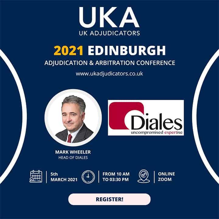 Mark Wheeler speaks at the UK Adjudicators Conference, March 2021